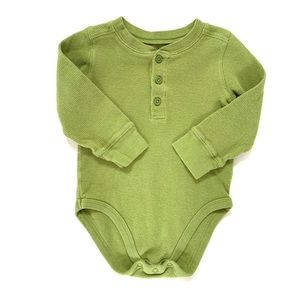 3/$25 Jumping Beans Baby Boy Thermal Henley Onesie